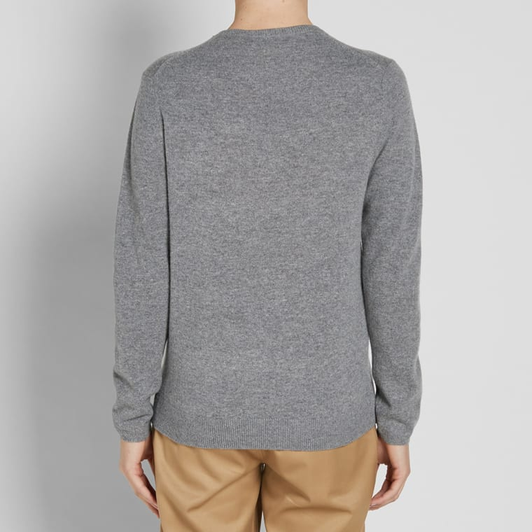 new style 4a680 dec57 Acne Studios Dasher Face Crew Knit Grey Melange 5