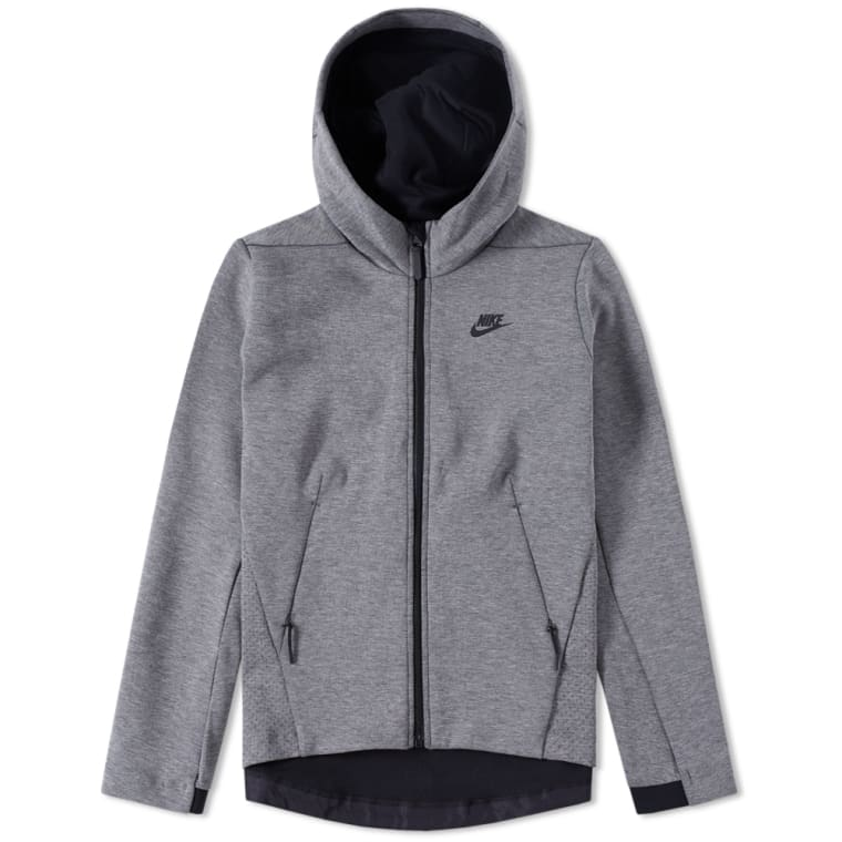 Nike Women s Tech Fleece Hoody Carbon Heather   Black flat 1 b24c3a7d5