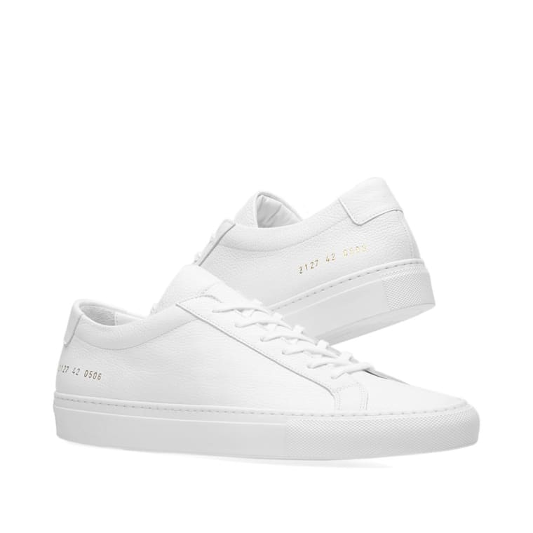 White Original Achilles Low Premium Sneakers Common Projects