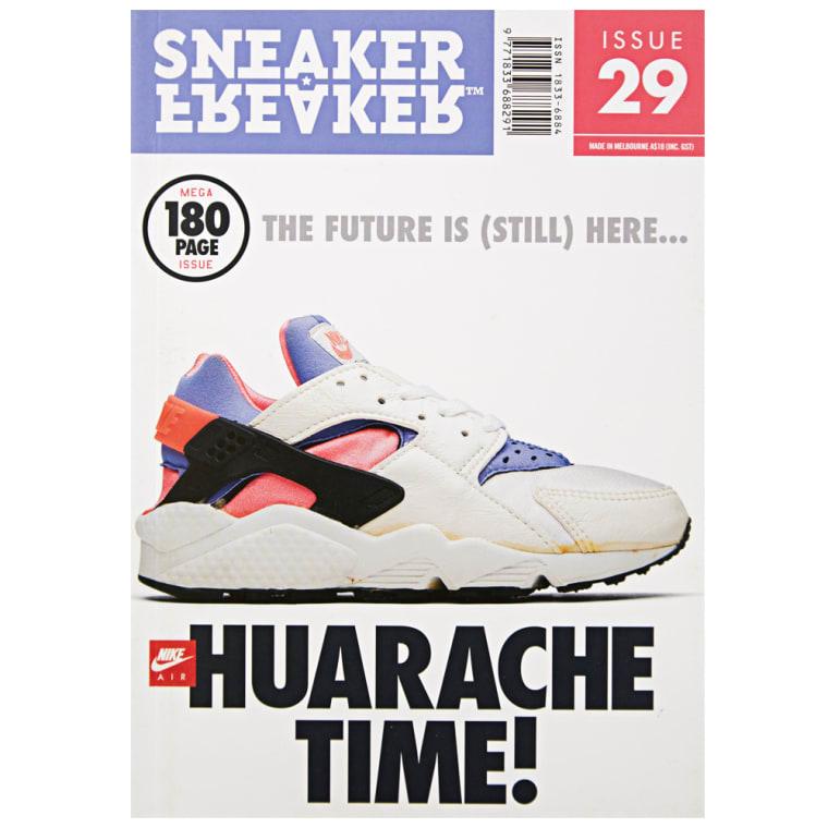 on sale 2088b 5e6b5 Sneaker Freaker Issue 29 Huarache Purple  Mango 1