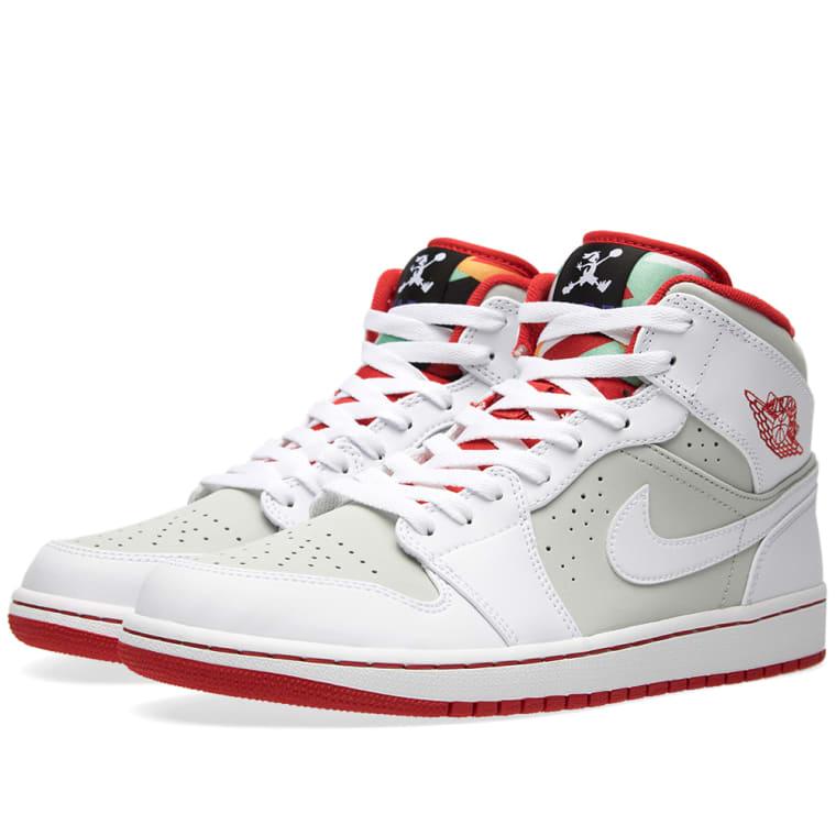 4b315471dc058a Nike Air Jordan 1 Mid WB  Hare  (White   True Red)