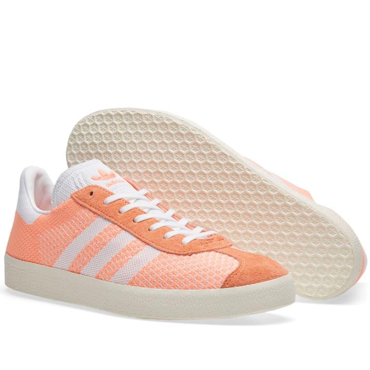 best service cd71c 542c8 Adidas Womens Gazelle PK W Sun Glow  Chalk White 1