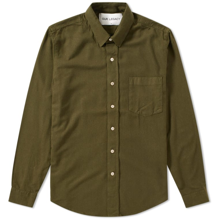 Slub Silk Shirt - GreenOur Legacy