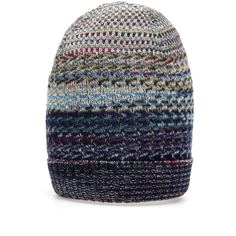 Missoni Fair Isle Knitted Hat (Navy & Grey Mix) | END.