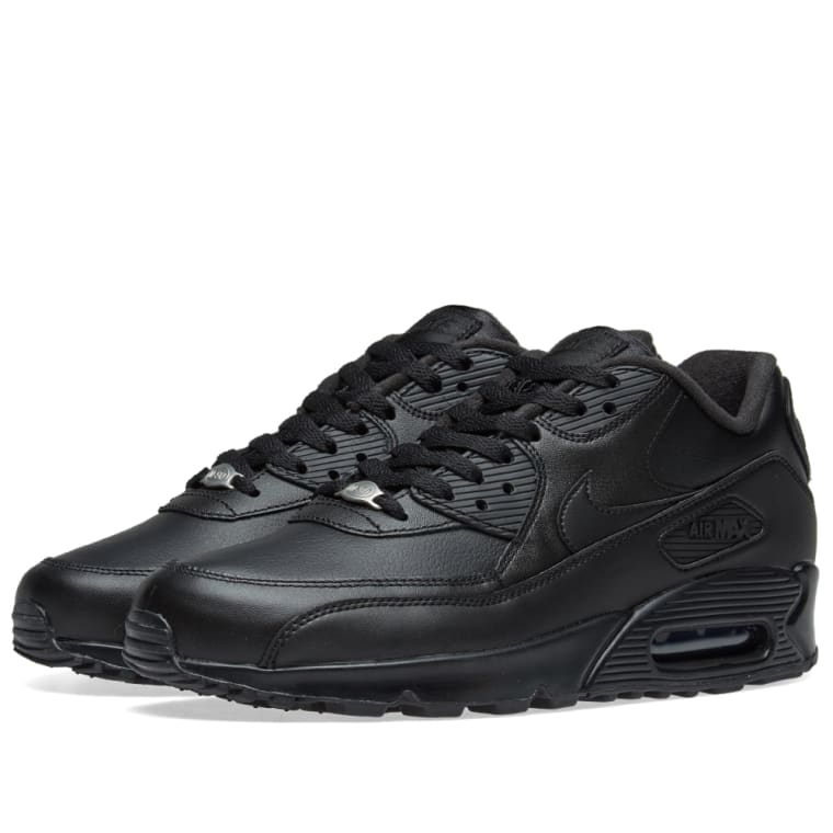 Nike Air Max 90 Leather (Black)   END. f37bbcaf5b29