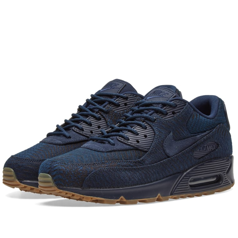 Dependable Nike Air Max 90 Ultra SE Premium Navy Blue White Red 845039 002 Men's Running Shoes Trainers 845039 002