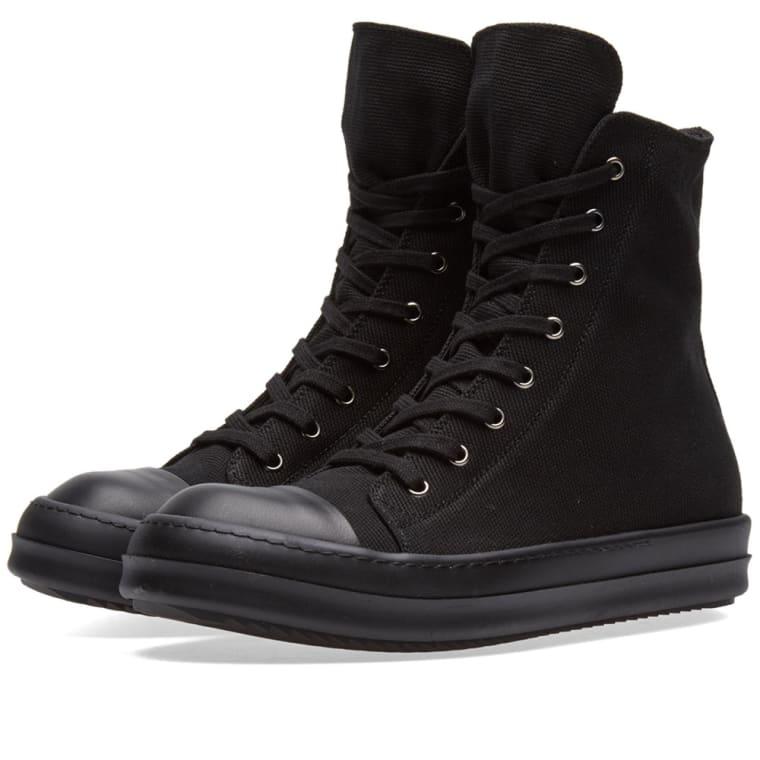 rick owens drkshdw high sneaker black black end