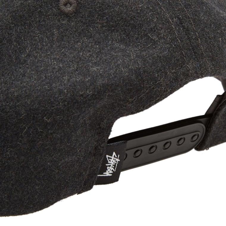 Stussy Smooth Stock Melton Snapback Cap (Black)  4749a9fb0e1a