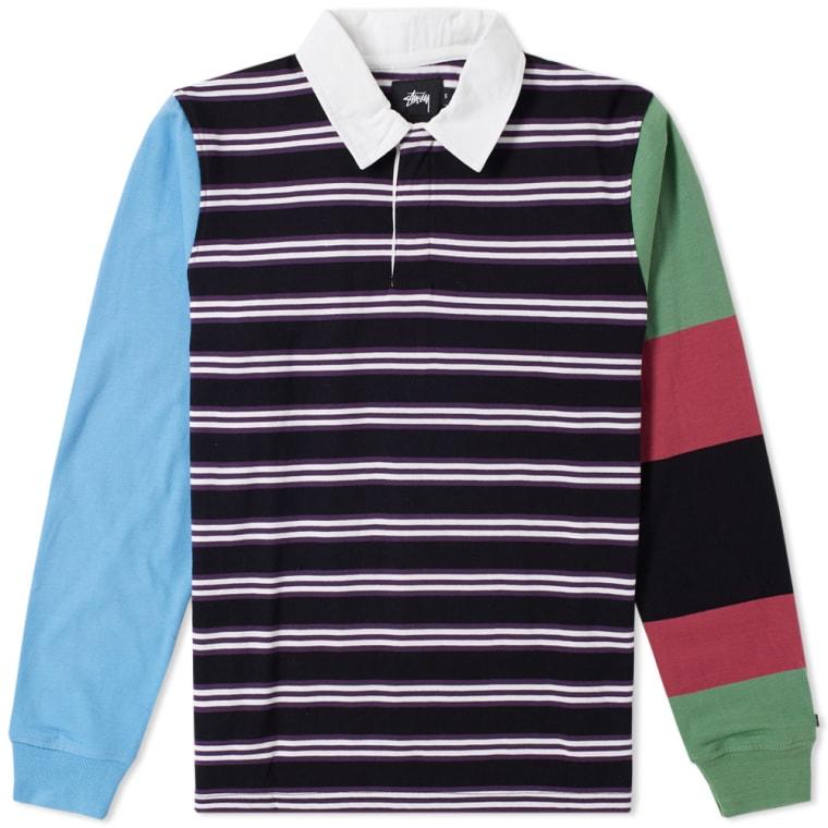 d027c1ee616 Stussy Mix Up Rugby Shirt (Black)   END.