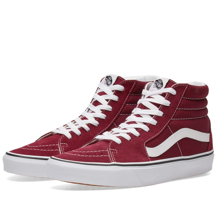 2b6b7f98a4 maroon and white vans Sale