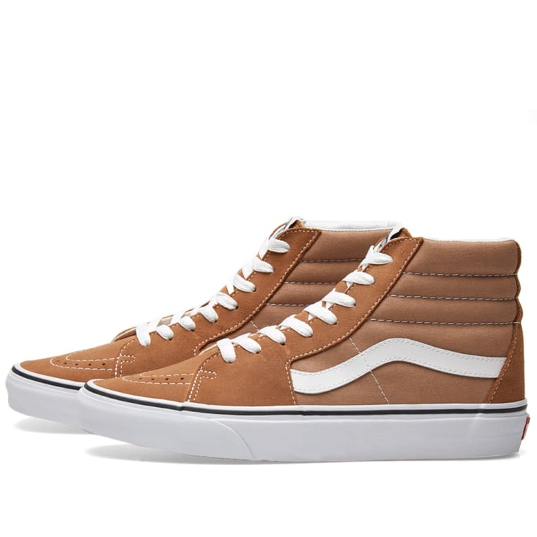 e8043bf6839c Vans SK8-Hi (Tigers Eye   True White)