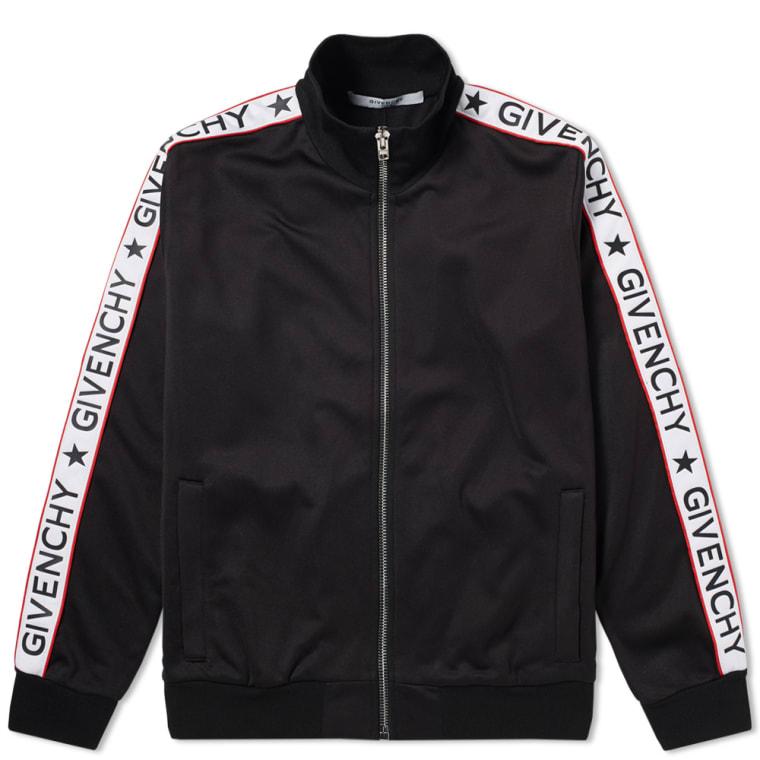 givenchy logo tape track jacket black end
