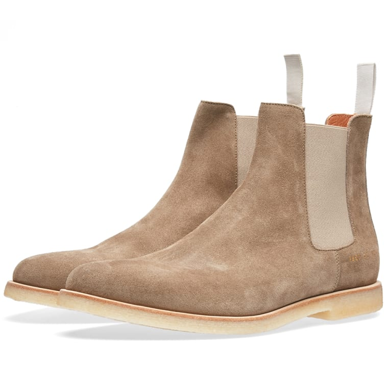 Common Projects Chelsea Boot Taupe Suede End