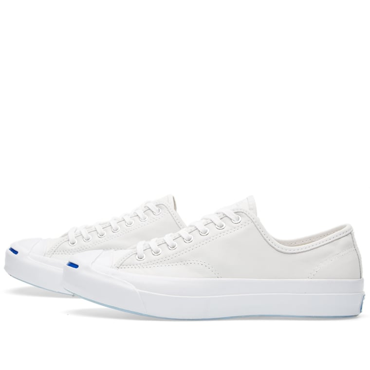715257a656ba Converse Jack Purcell Signature Buck Leather Ox (White)