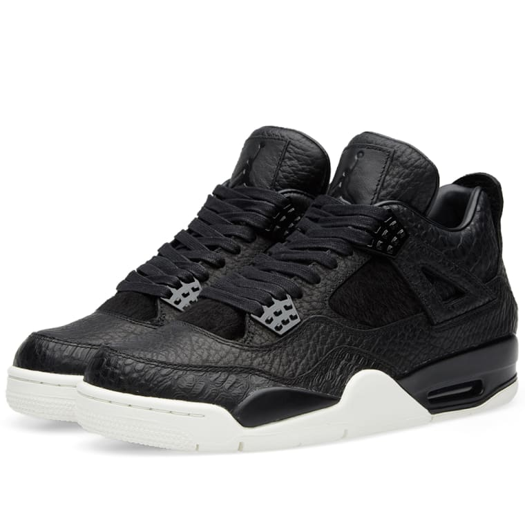 check out 3e4b8 5bf3e ... free shipping nike air jordan 4 retro premium black sail 1 90edf 1d33a