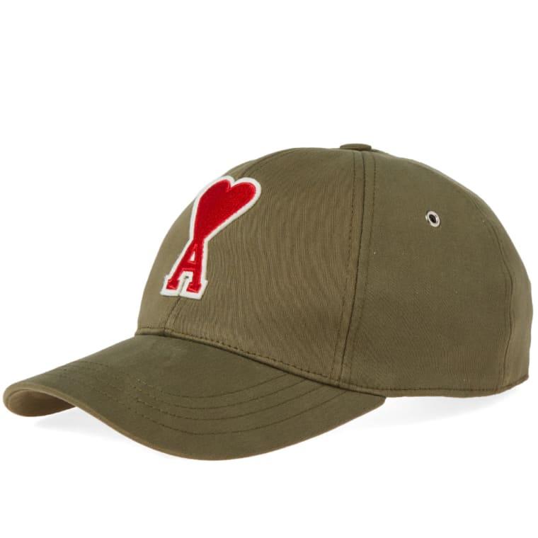 AMI Heart Embroidered Baseball Cap (Khaki)  3936d7adec4
