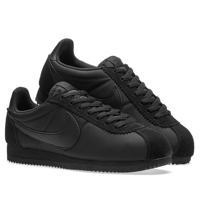Buy nike cortez all black nylon \u003e up to