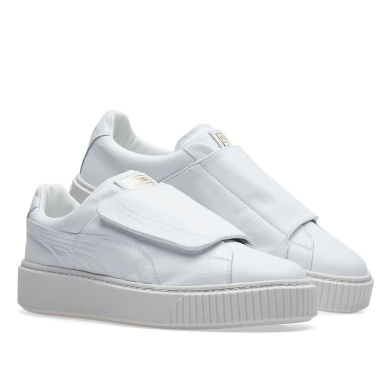 43c62a0721e pre order 10699 70b5f puma womens basket platform big strap shoes ...