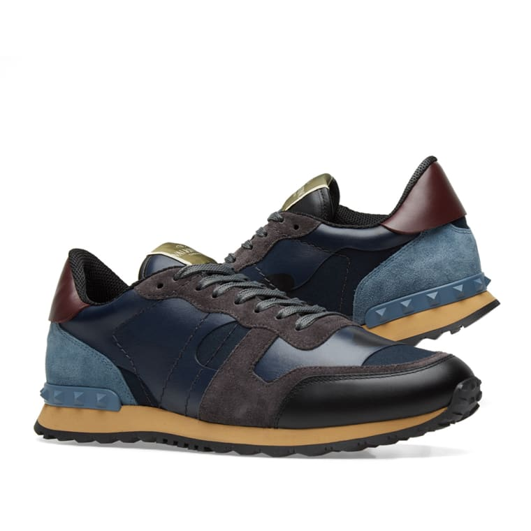 Valentino Tonal Rockrunner Sneaker (Marine Camo)