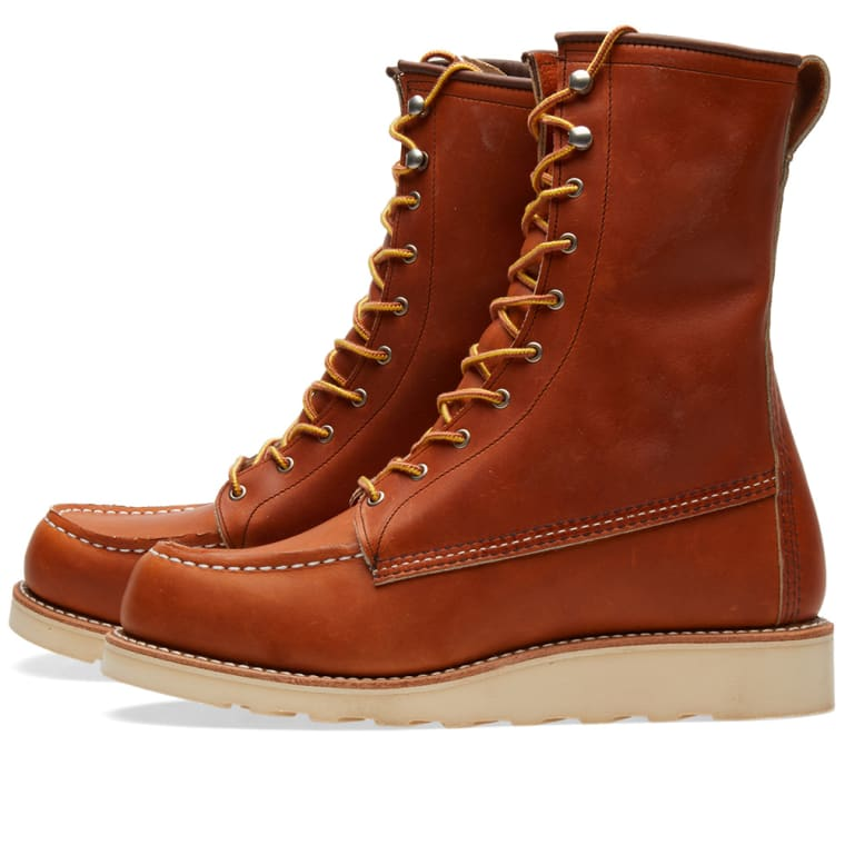 """Red Wing Women's 3427 Winter 8"""" Moc Toe Boot (Oro Legacy"""