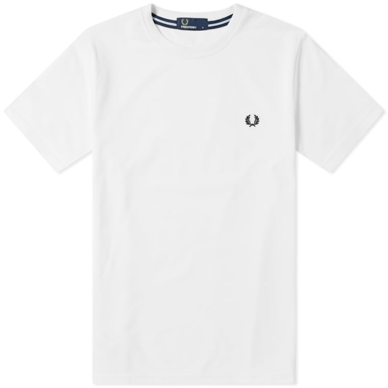 Fred Perry New Classic Crew Neck Tee  White  1