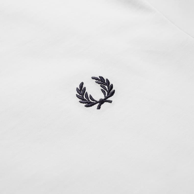 Fred Perry New Classic Crew Neck Tee  White  3