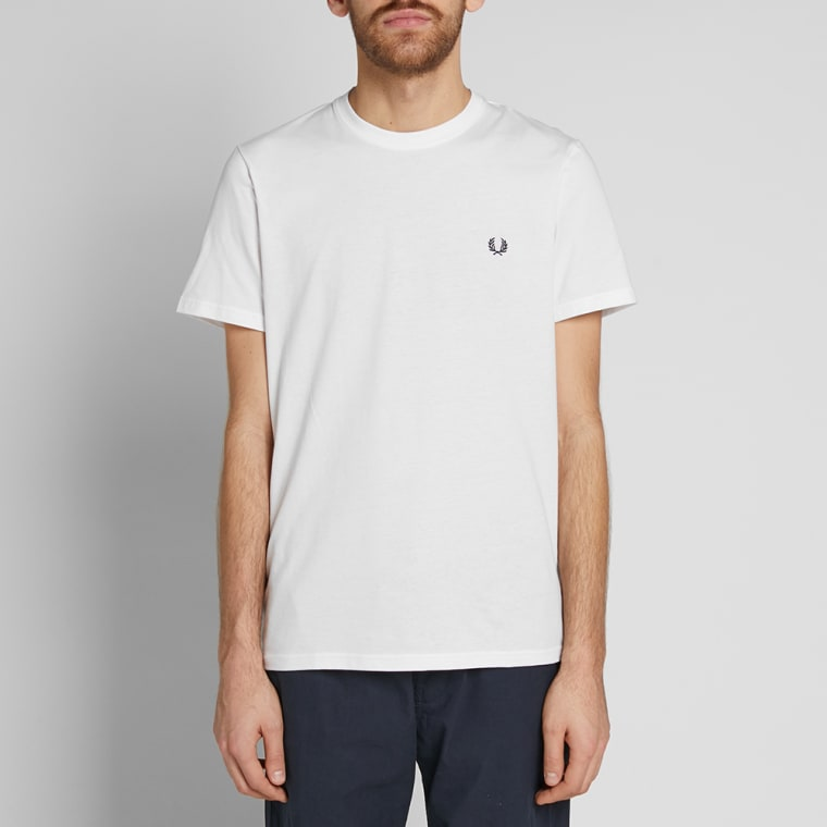 Fred Perry New Classic Crew Neck Tee  White  4