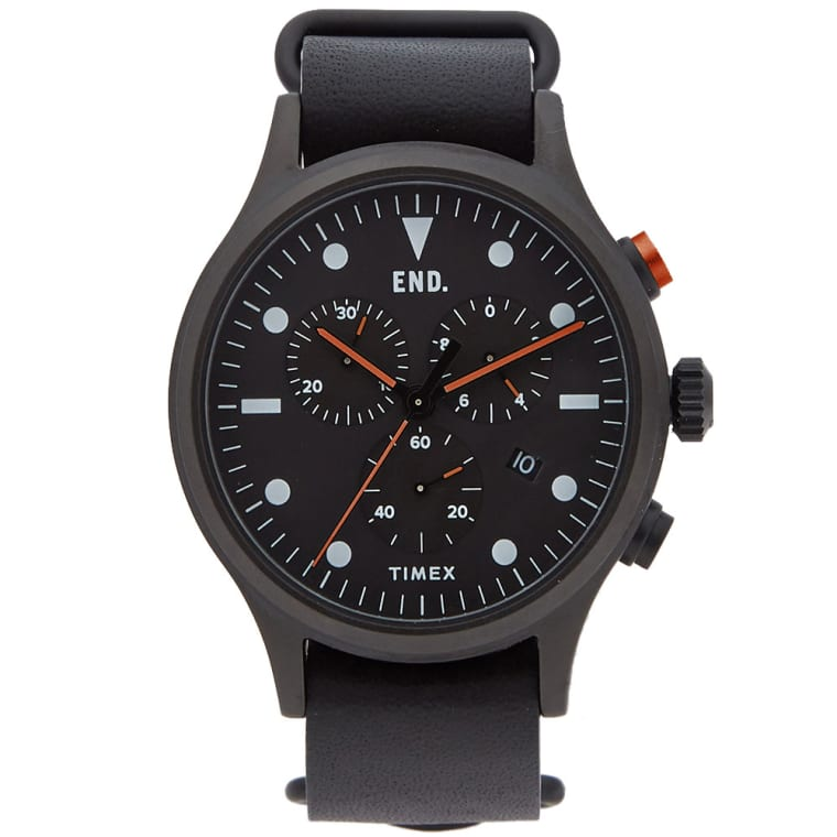 END. x Timex Allied Chronograph 'Blackout'  Black & Orange  1