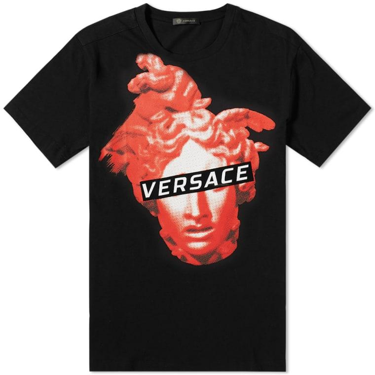 254e9c537 Versace Modern Medusa Print Tee (Black & Red) | END.