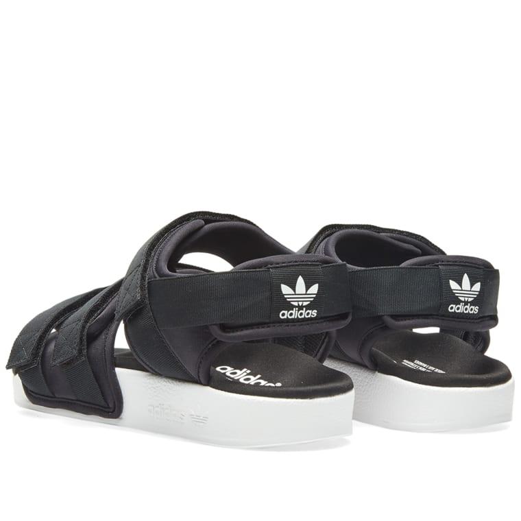 920b2a41e1d514 ... pretty nice e69f0 718b5 Adidas Womens Adilette Sandal W Black White ...
