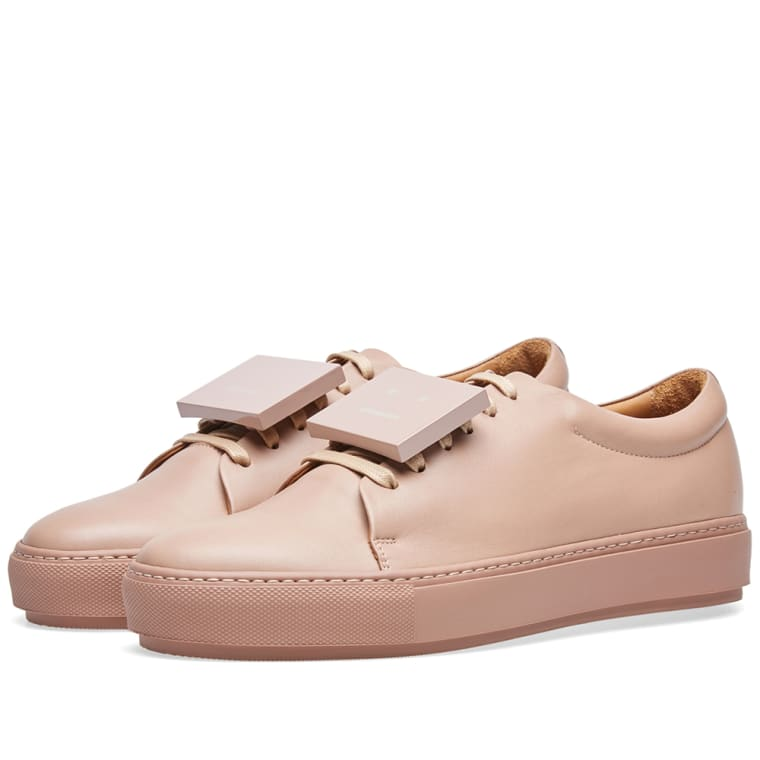 Adriana Turn Up Sneakers in Dusty Pink Calf Acne Studios