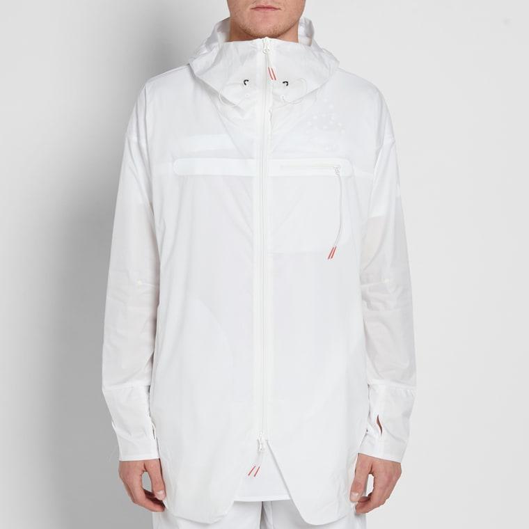 Asics Jyuni Woven Hooded Jacket White End