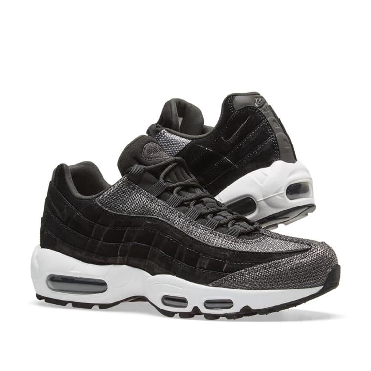 Nike Air Max 95 Premium Black White Womens   807443 014