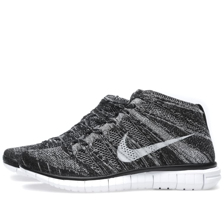 low priced c5c44 6c150 Nike Free Flyknit Chukka Black   Pure Platinum 2