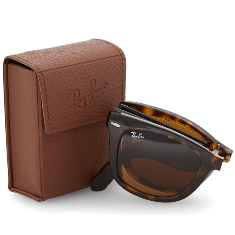 da5412ad2c ... order ray ban wayfarer folding sunglasses light havana brown 7 52bc8  65a08