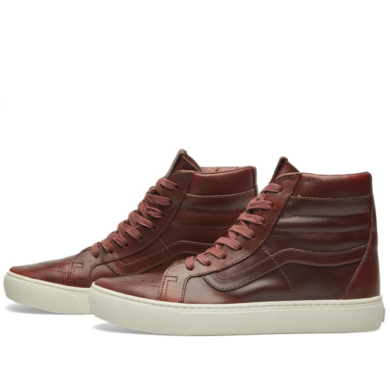 43db3b0bc3 Vans Vault x Horween Leather Co. Sk8-Hi Cup LX (Timber)
