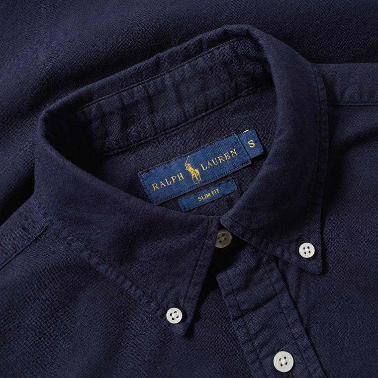 bbb760e30a7d ... ebay polo ralph lauren slim fit garment dyed oxford shirt hunter navy 4  66bdb 4d61e