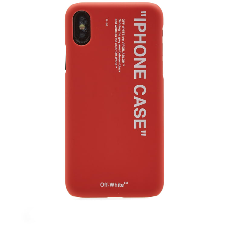 OffWhite Quote iPhone X Case Red  White  END.
