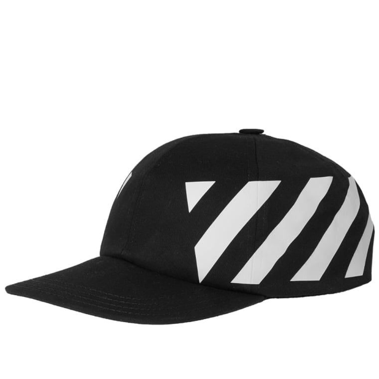 Off-White Diagonal Baseball Cap (Black & White) | END.