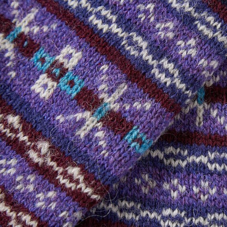 Jamieson's of Shetland Fair Isle Scarf (Purple) | END.