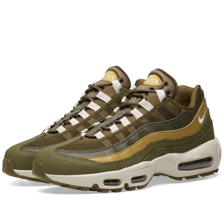cheap for discount be254 01e01 Nike Air Max 95 Essential Olive, Bone  Golden Moss 1