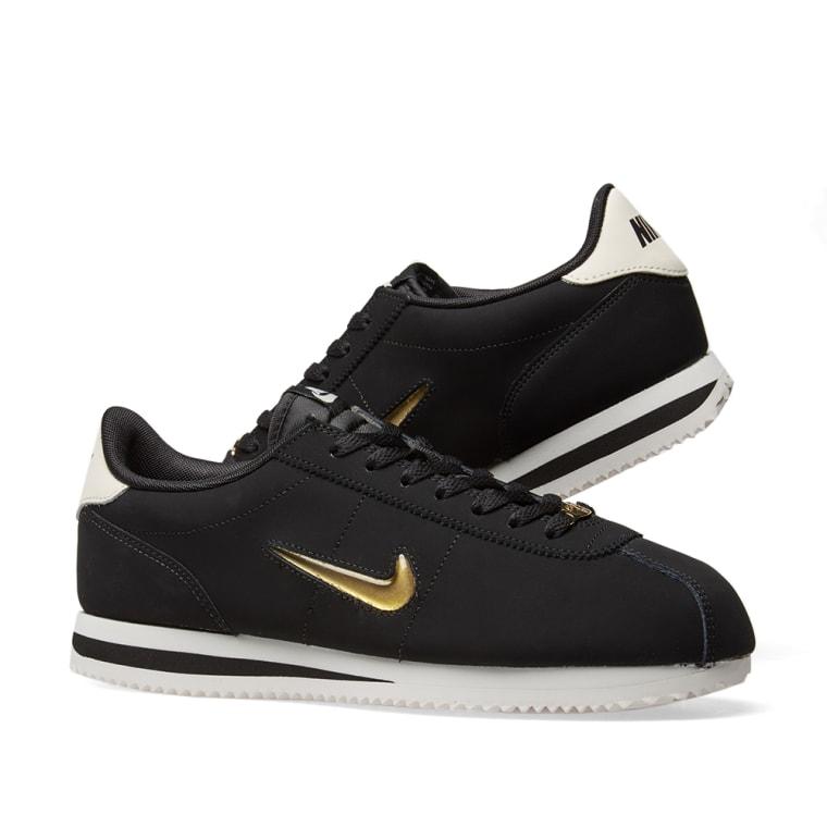 new concept 37184 6fd08 ... PURPLE DUST MENS SHOES Nike Cortez Basic Jewel 18 W Black, Metallic  Gold .