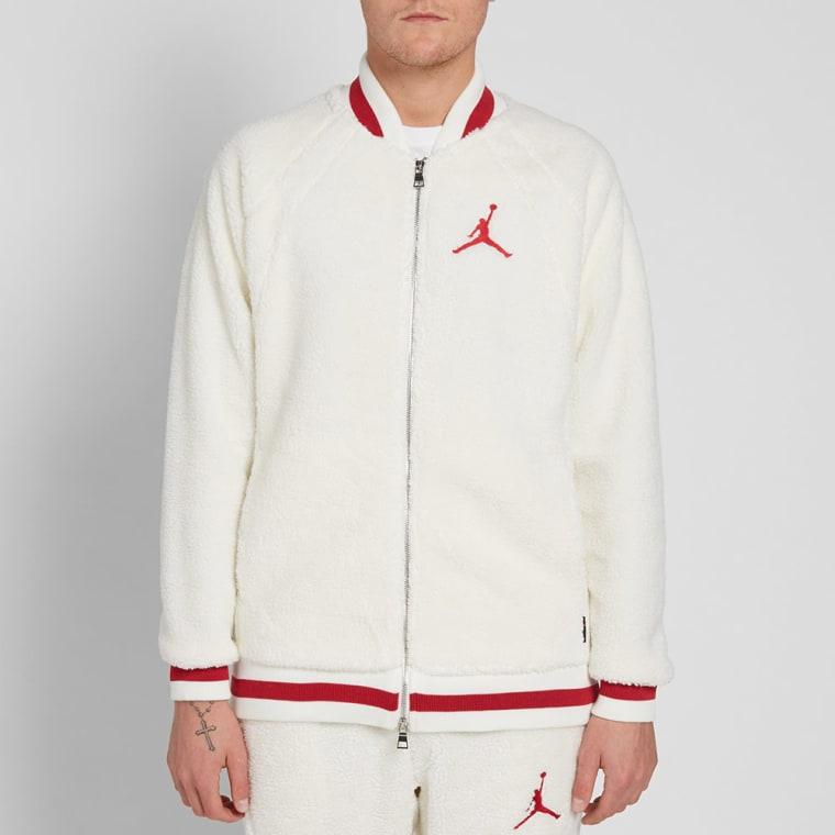 pick up fc6ad 0579f ... Nike Air Jordan Sportswear AJ 1 Fleece Jacket Sail Gym .