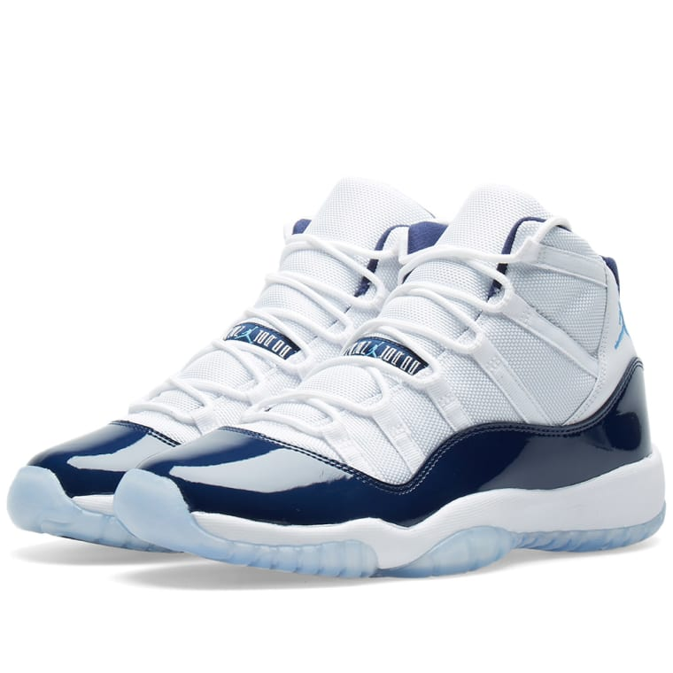 Nike Air Jordan 11 Retro UNC White, University Blue \u0026 Navy 1