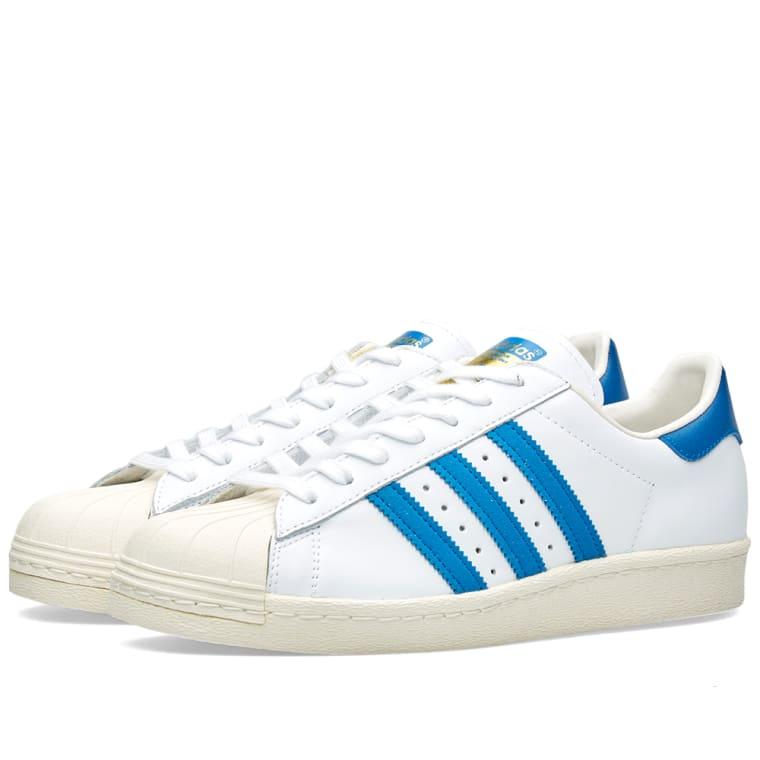 Adidas Superstar 80s Schuhe white-dark royal-chalk white - 46 2/3