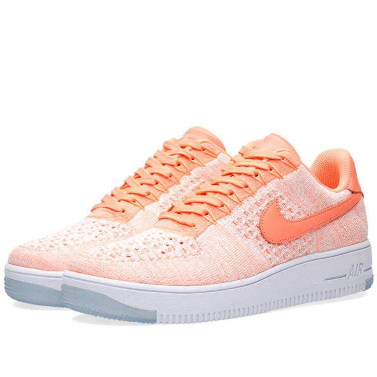 Nike W Air Force 1 Flyknit Low Atomic Pink 1