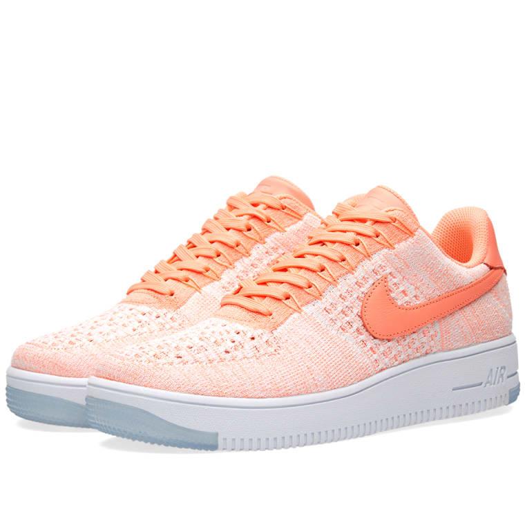 Nike W Air Force 1 Flyknit Low Atomic Pink 1