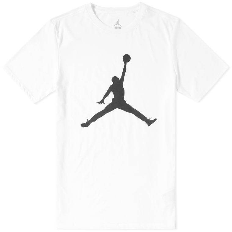 Nike Jordan Iconic Jumpman Tee White   Black flat 1 ed12cab58a3