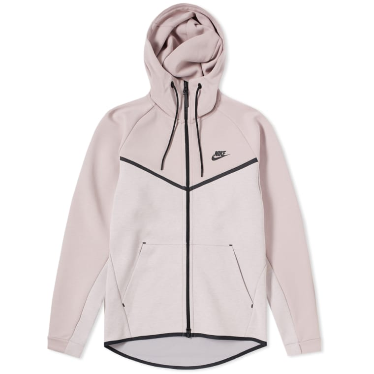 Nike Tech Fleece Windrunner Hoody (Particle Rose, Heather   Black ... ae9d47c671