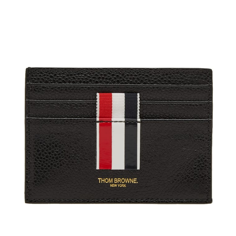thom browne stripe card holder black 1 - Thom Browne Card Holder